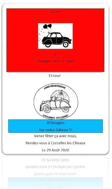 Affiche 4 roues aout 2020