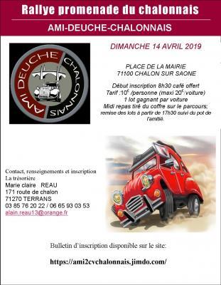 Affiche rallye 2019 chalon sur saone 1