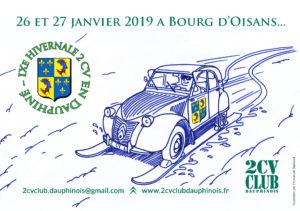 Hivernale 2cv club dauphinois 2019